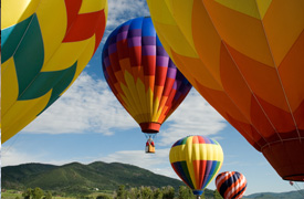 Hot air balloons in Steamboat Springs, CO